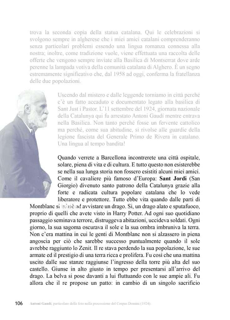 Pagina 106 della guida romanzo IO SONO BARCELLONA