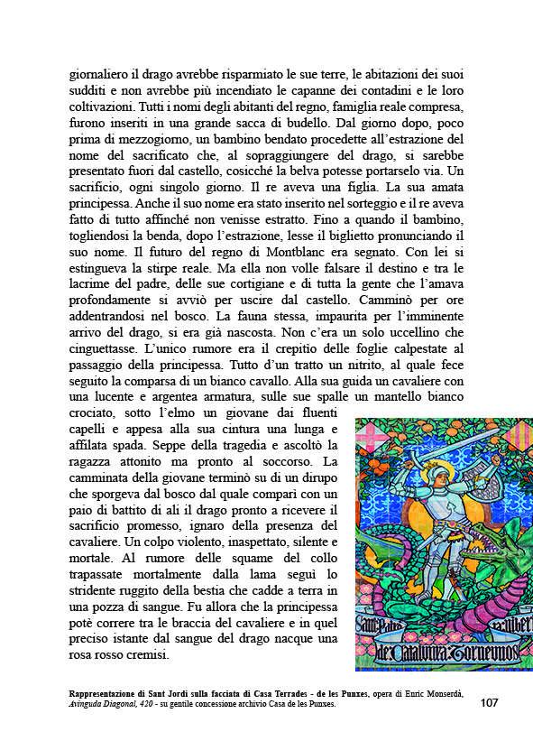 Pagina 107 della guida romanzo IO SONO BARCELLONA