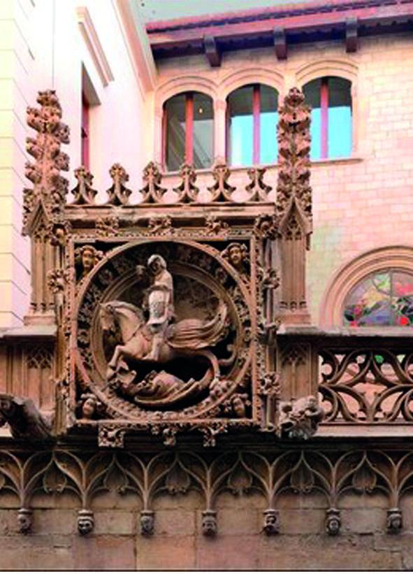Bassorilievo sul portale antico del Palau de la Generalitat