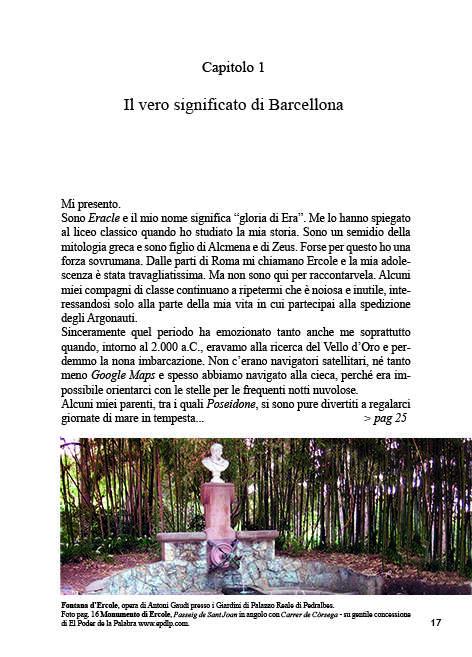 La prima pagina del capitolo vi introduce nella storia di Barcellona...